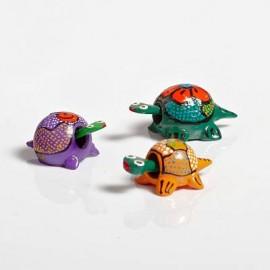 Balla små Mini Booblehead djur i trä.
