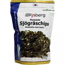 Rostade Sjögräschips med sesam 50g