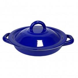 Tortilla värmare i tenn. Blå 18cm