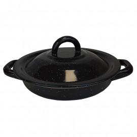 Tortilla värmare i tenn. Svart 18cm